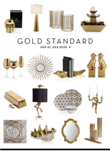 30 best images about gold metallic on pinterest faux for Home decor and accents