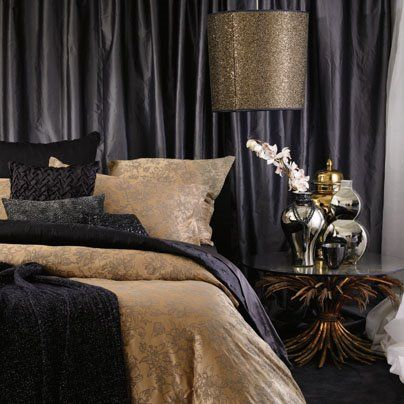 Bedroom Ideas Black And Gold 46 best metallics in interiors images on pinterest | home, for the