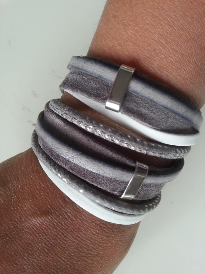 Stoere wikkelarmband, gemaakt van hoogwaardige kwaliteit materialen.