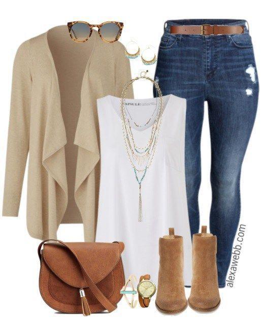 Plus Size Casual Fall Outfit - Plus Size Fashion for Women - alexawebb.com #alexawebb