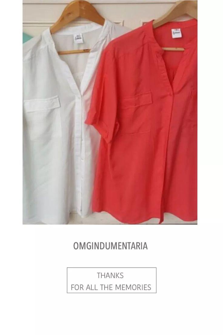 camisa blusa mujer fibrana mangas cortas bolsillos talles