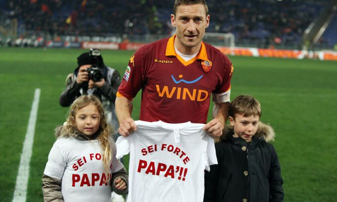 "#Totti #Channel #Francesco #Christian ""Sei Forte Papa'"""