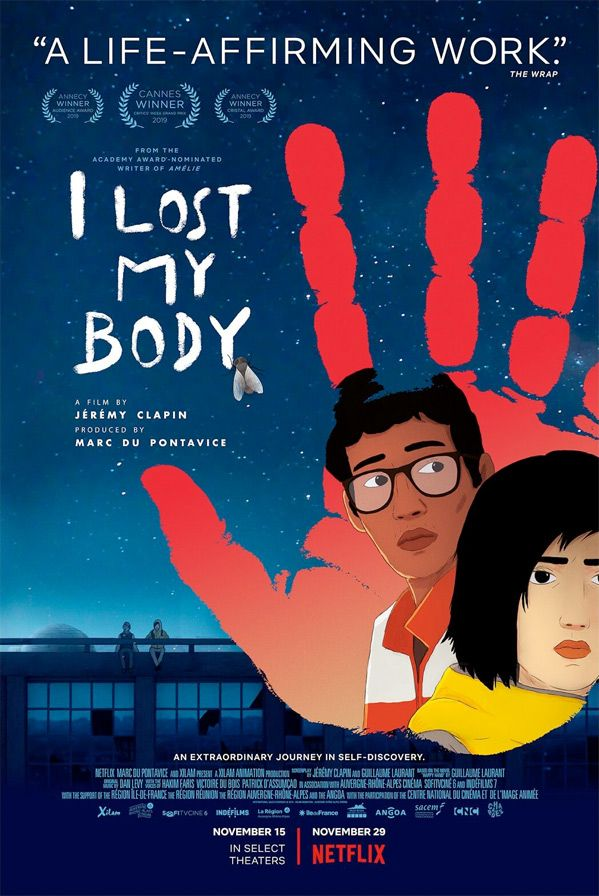Official Us Trailer For Stunning French Animated Film I Lost My Body Body Movie Film Losing Me