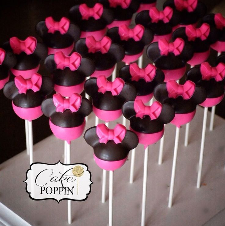 Mickey Mouse Cake Pops Tutorial Minnie Mouse cake pop ...