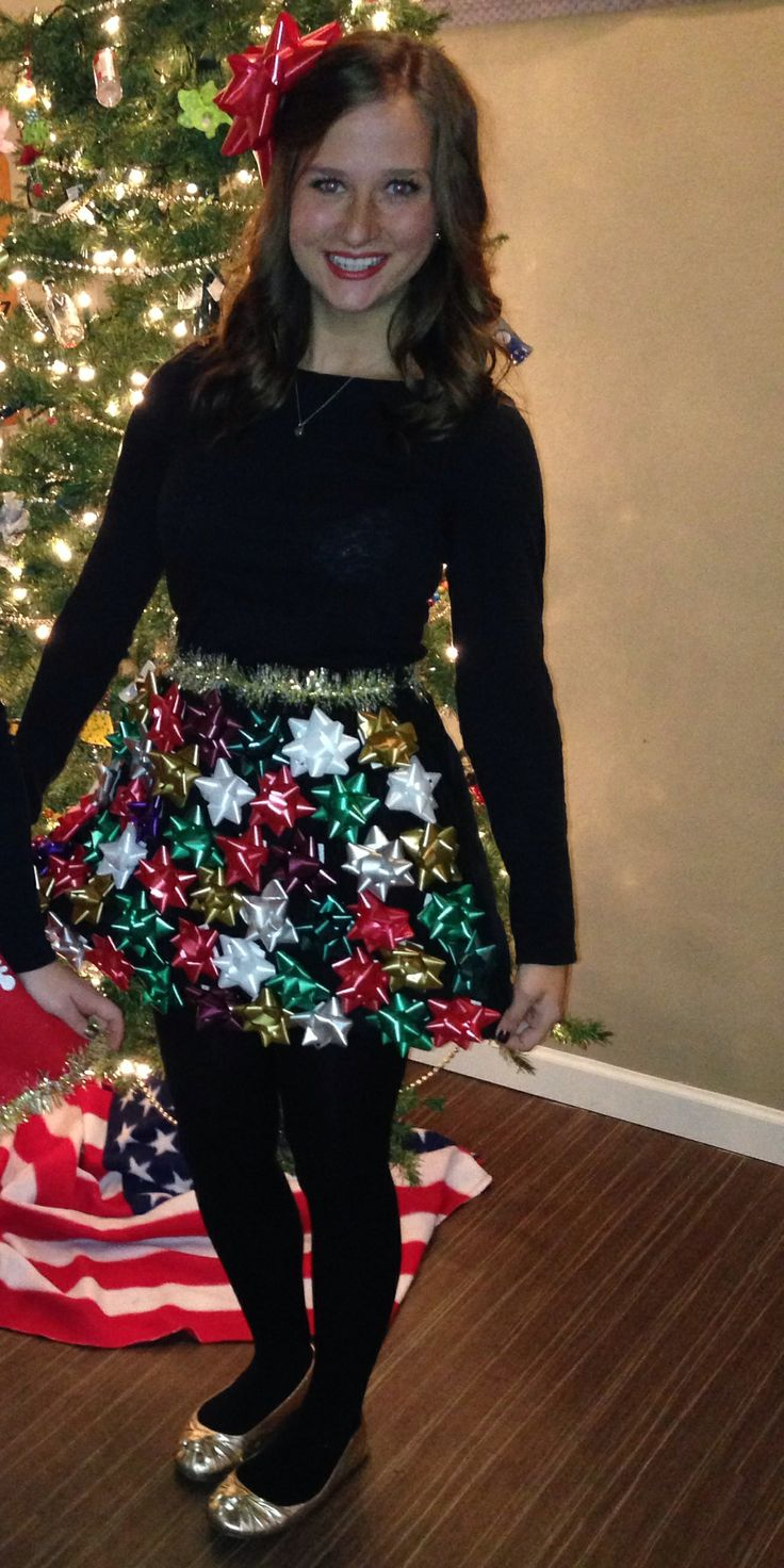 Which christmas gown ideas with holed - Tacky Christmas Idea