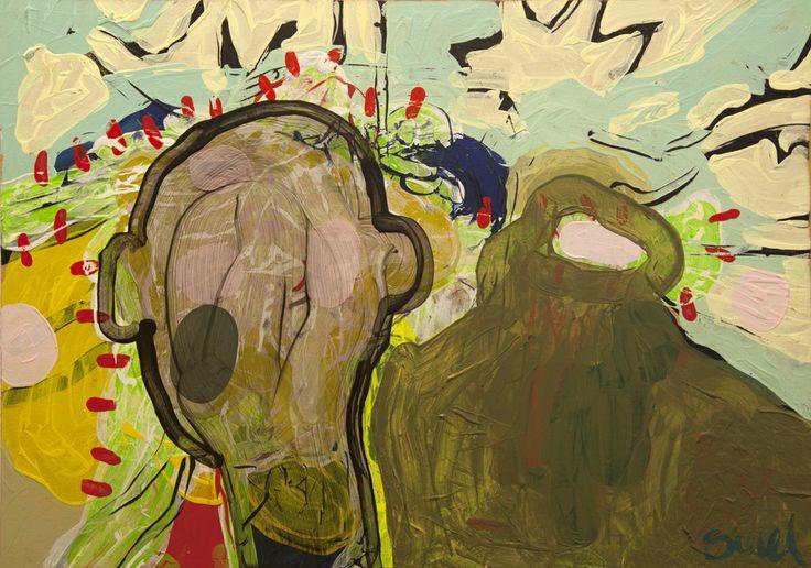 Head Case (2013) Painting by Norwegian artist Øyvind Suul.  #art #painting #suul #2D #Norway