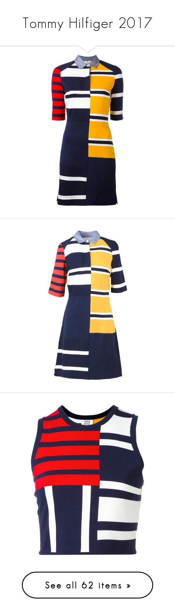 """Tommy Hilfiger 2017"" by sella103 ❤ liked on Polyvore featuring dresses, bodies, blue, colorful dresses, blue color dress, multi-color dress, blue polo dress, tommy hilfiger, yellow and blue short sleeve dress"