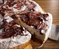 Torta fredda mascarpone e nutella o Cheesecake mascarpone e nutella: torta senza cottura e senza colla di pesce con mascarpone, philadelphia e Nutella !