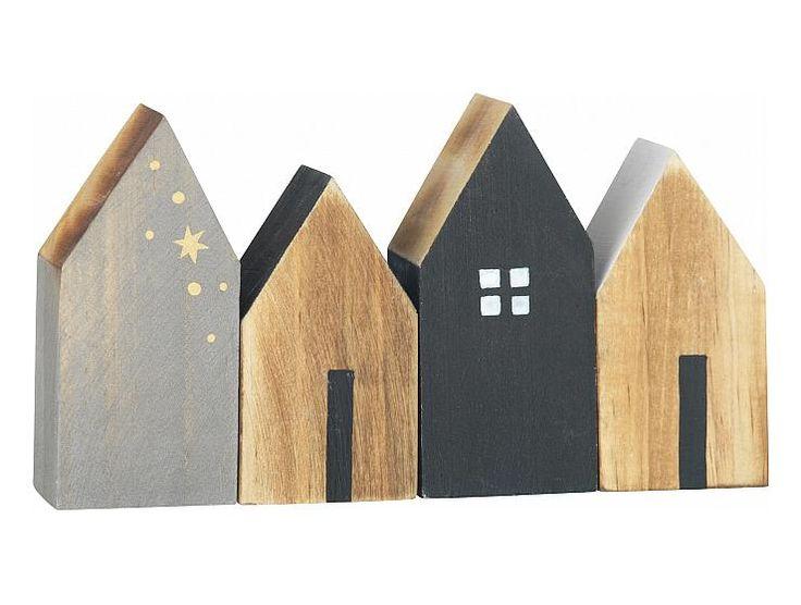 Deko-Holzhäuser selbst aus Holzresten sägen