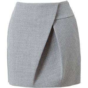 3.1 PHILLIP LIM Asymmetric Folded Wool Miniskirt