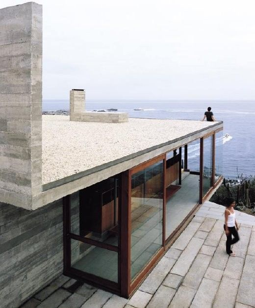 Casa Pite, Chile, Smiljan Radic, linear volumes, cliff, swimming pool, edge