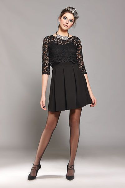 A black mini lace dress is  what makes every woman looks nothing less than stunning during a party!