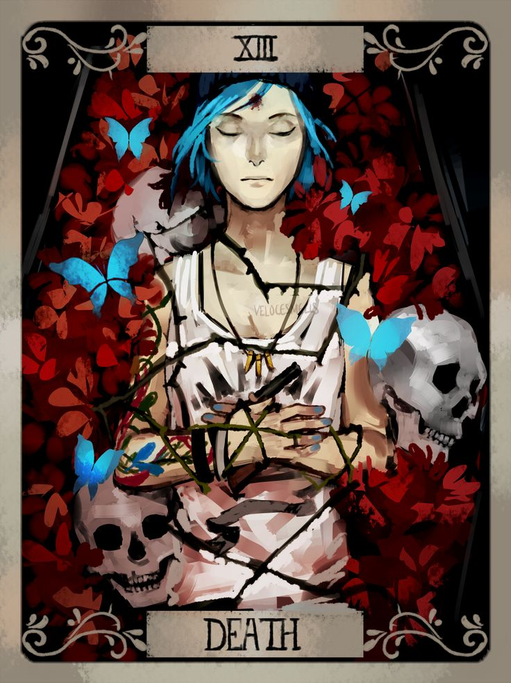 "Chloe Price - Death "" Some Life is strange tarot cards I've done so far for fun """