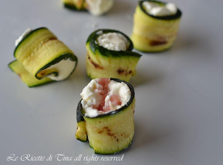 Rotolini di zucchine,un antipasto con le zucchine facile,veloce e da preparare in anticipo