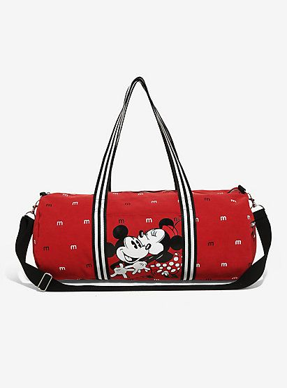Loungefly Disney Mickey Mouse Minnie Lovebirds Duffle Bag Boxlunch Exclusiveloungefly