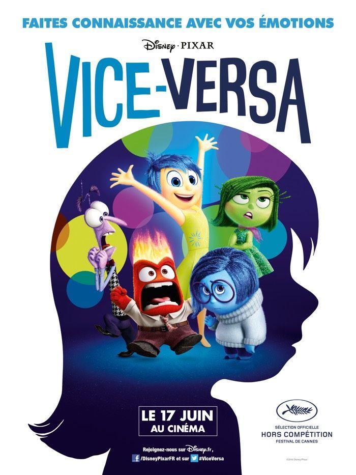 Vice Versa - Pixar. Un merveilleux film d'animation qui traite de la fin de l'enfance, de la personnalité, du partage... Exceptionnel
