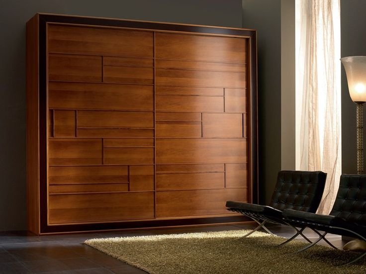 Walnut wardrobe with sliding doors ELETTRA Night Collection by Cantiero