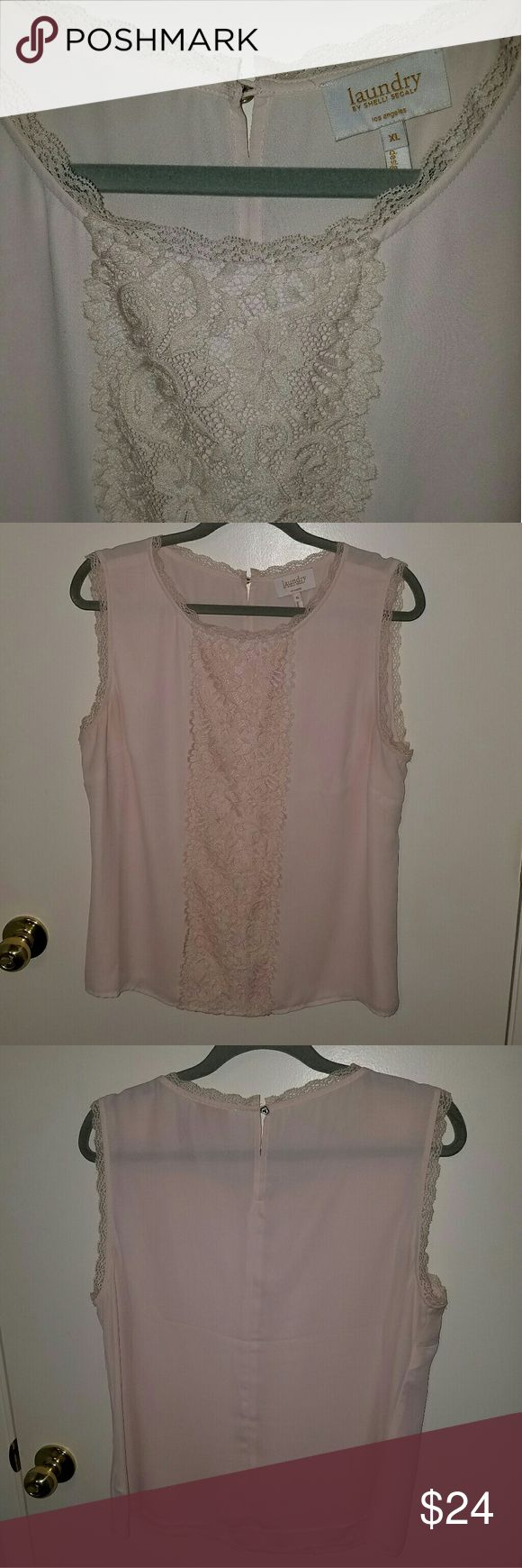 Laundry by Shelli Segal sleeveless blouse Laundry by Shelli Segal sleeveless pale pink blouse. Excellent condition. Only worn once or twice. Looks new. Laundry by Shelli Segal Tops Blouses