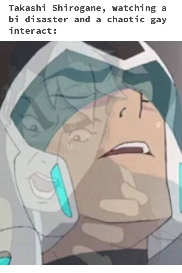 Let's be honest Shiro is a closeted disaster gay/bi (came