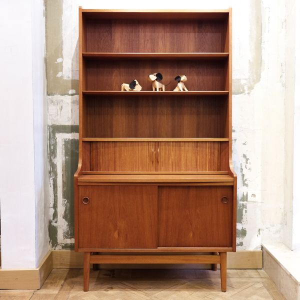 Teak Secretary Bookcase with Organiser by Nexø