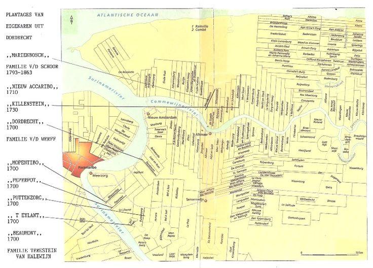 300 JAAR HANDEL IN SUIKER 1695-1905 door H.W.G. van Blokland-Visser PLANTAGE EIGENAREN UIT DORDRECHT. Klik kaart om te lezen.