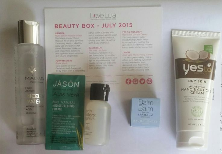 Love Lula Beauty Box July 2015