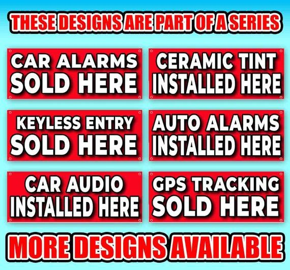 Seat Heaters Installed Here 13 Oz Heavy Duty Vinyl Banner Sign With Metal Grommets New Store Adve In 2020 Vinyl Banners Outdoor Vinyl Banners Metal Grommets
