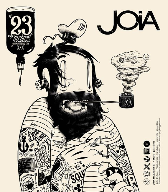 Ahoy shit mates, I had the pleasure and honor to do the cover of the new JIOA magazine, I really encourage you to check the magazine out it's brilliant. P.S i like itAhoy Shit, Black And White, Graphics Design, White Bedrooms, Covers Design, Jioa Magazines, Mc Bess, Mcbess, Design Posters