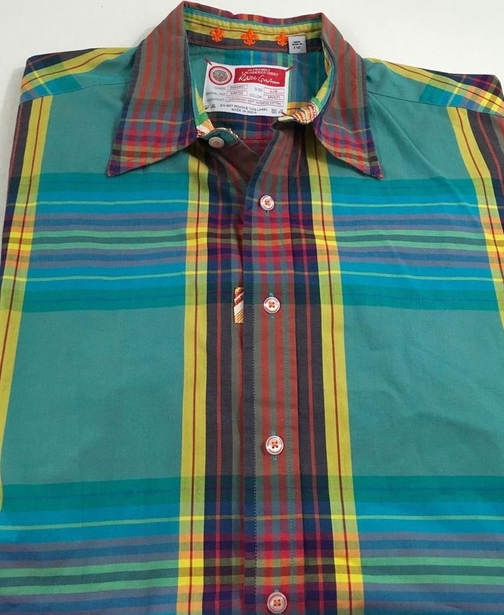 Robert Graham The Freshly Laundered Men's Short Sleeve Button Down Shirt Large #RobertGraham #ButtonFront