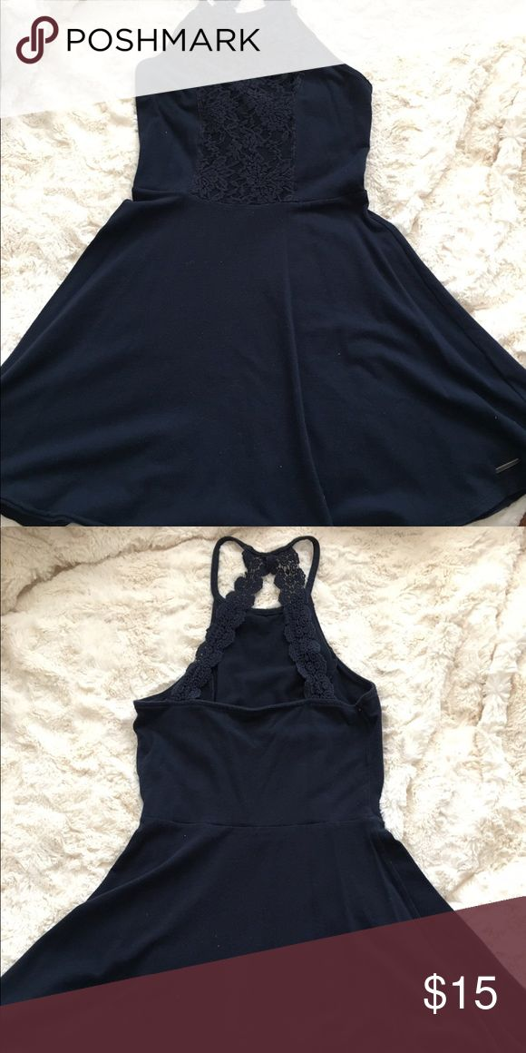 Abercrombie and fitch dress Dark blue dress from Abercrombie🌼 Abercrombie & Fitch Dresses