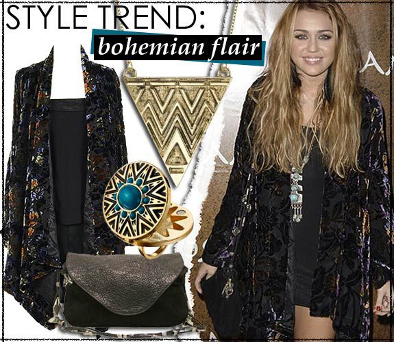 25 best Bohemian Chic images on Pinterest | Horn, Jewelry ...Miley Cyrus Bohemian Style