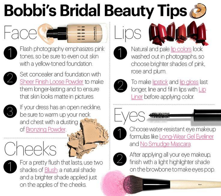 Bobbi Brown Cosmetics Bridal Boutique Bobbis Beauty Tips