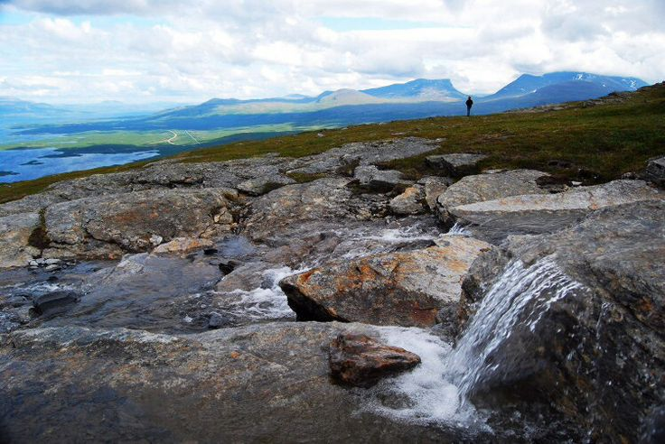 Lapporten, viewed from the Nuolja mountain in Abisko, Swedish Lapland.
