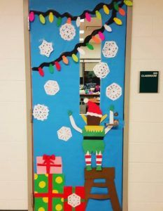 christmas door ideas for preschool and kindergarten