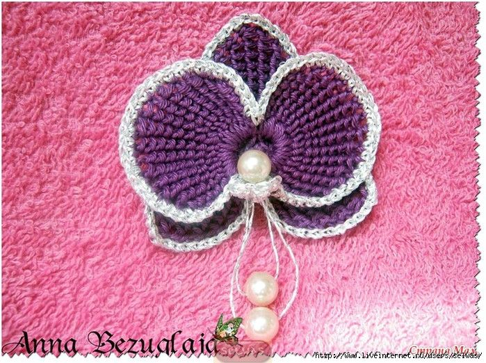 Para sujetar el pelo: Photo Tutorial, Crochet Style, Crochet Jewelry, Crochet Flowersleav, With Yu, Crochet Flowers Leaves, Flowers Woven, Орхидея Крючком, Photos Tutorials