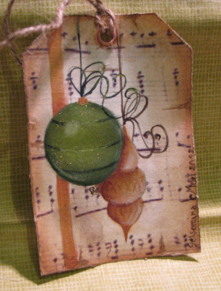 Tag Ornament, my free pattern and video lesson on www.romanticherie.it