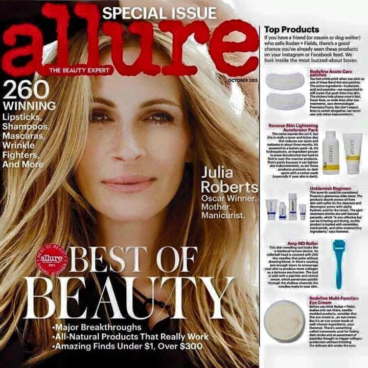 """Rodan+Fields skincare business is featured in the Redbook Nov. 2015 magazine!!!!! Free Press!  - """"Your ultimate guide to side jobs that make sense - No Scam, no fine print, just lots of extra cash for you..."""" If you need extra cash or looking for a job that you can do from home, this business is right for you. Join me and work with Doctors who created Proactiv. Rodan and Fields has the best skincare products you're looking for. You will not regret it! #rnfwalisha"""