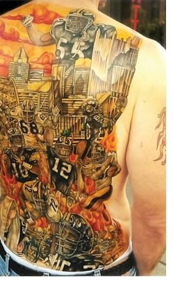 Steelers tattoos. Now that's dedication.  All I can say is Wow!