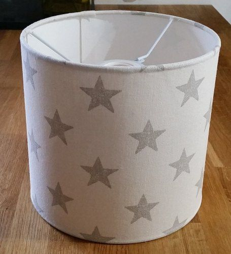Stars print drum lampshade from www.radiance-designs.co.uk