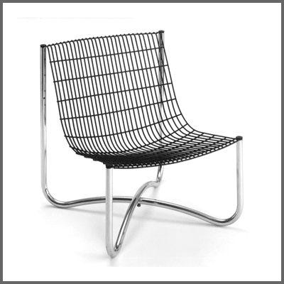 Abacus 700, 1973  Tubular steel, wire mesh  Design: David Mellor  Production: Abacus, UK