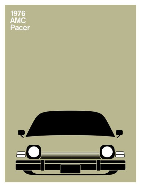 AMC Pacer from 1976 by Illustrator Julian Montague.