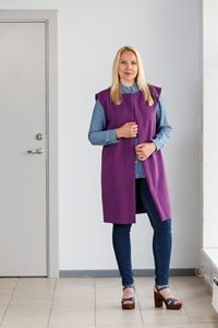 Purple vest for women. Handmade by betolli.