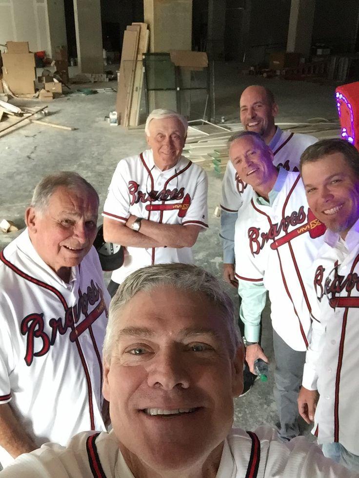Dale Murphy, Bobby Cox, Phil Niekro, John Smoltz, Tom Glavine, and Chipper Jones. SunTrust Field, Opening Day 2017.
