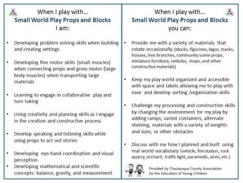 """Small world play - from There Is No Pro In Progressive ("""",) - great info about why it's important."""