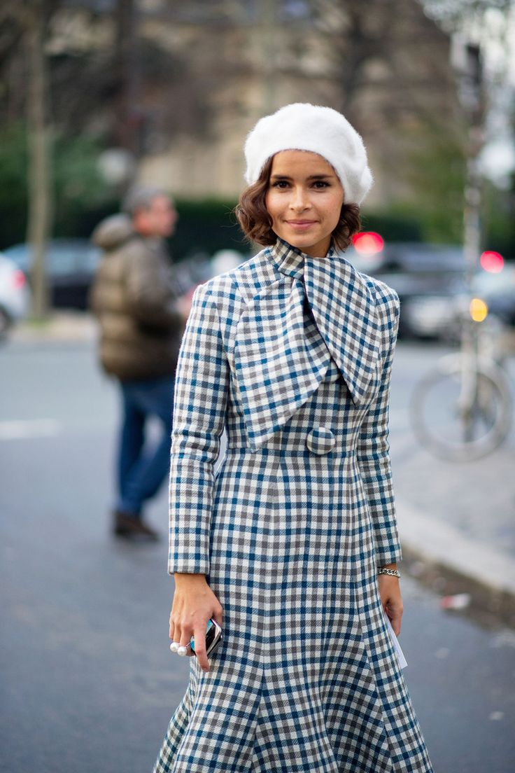 Miroslava Duma - The Cut Pretty, flirty outfit! Paris Fashion Week 2014
