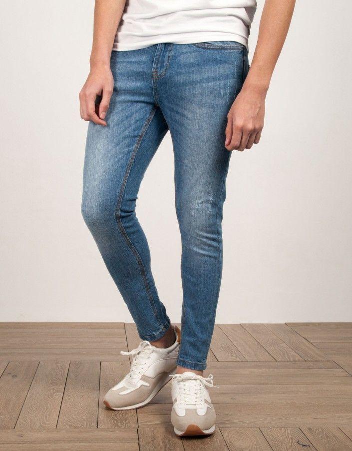 Pantalon Vaquero Skinny Cropped Fit Claro Jvz Jeans Pantalon Vaquero Pantalones Skinny