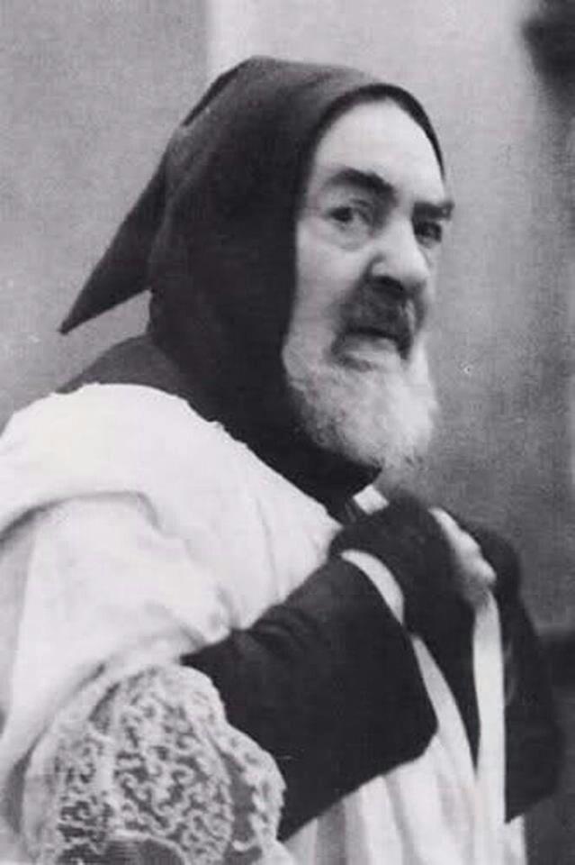 Padre Pio--now St. Pio of Pietralcina.  ...a spiritual father to me.