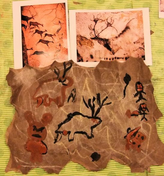 Cave Painting with Hannah's Art Club