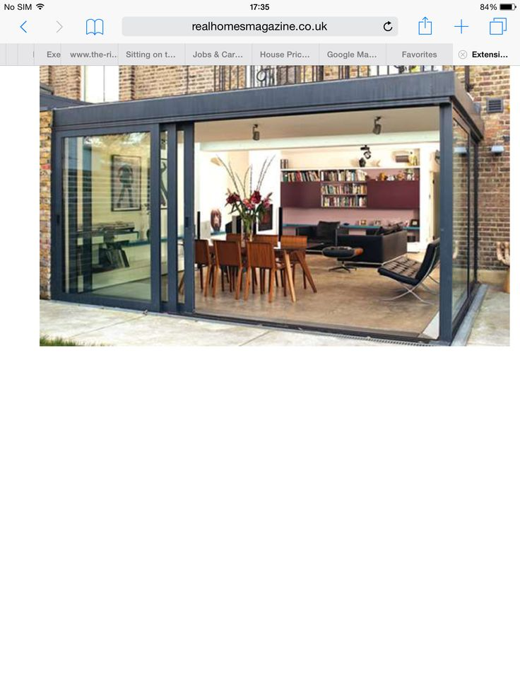 Great kitchen extension glass house