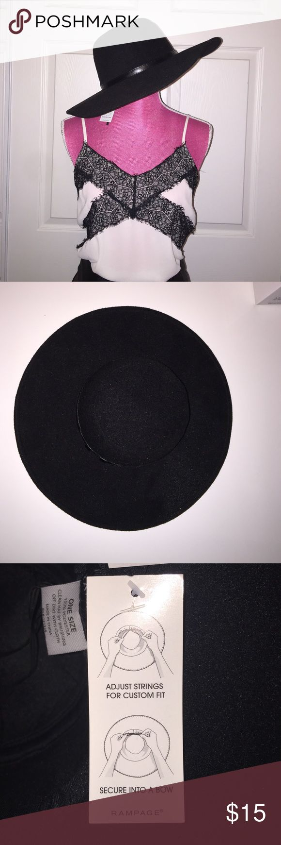 Floppy hat NWT Black Floppy hat. Polyester material Rampage Accessories Hats